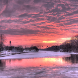Canal Park sunrise by Blaine Stauffer - City,  Street & Park  City Parks ( water, park, sunrise, canal )
