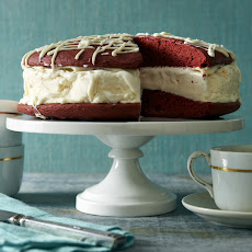 Red Velvet Whoppie Pie Ice Cream Cake