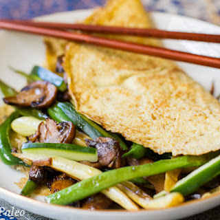 Asian Omelette With Mushrooms & String Beans