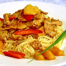 Spicy Honey Orange Sliced Pork