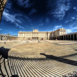 Palacio Real by Rino Calori - City,  Street & Park  Historic Districts ( palacio real, hdr, madrid, 8mm, spain )