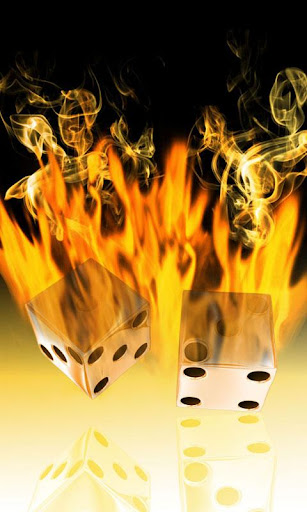 Burning Dice theme 480x800