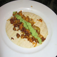 Potato-Chorizo Tacos With Simple Avocado Salsa