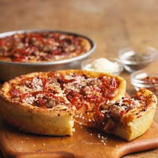 Sausage and Pepper Mini Deep-Dish Pizzas