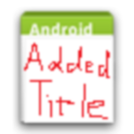 AddedTitle icon
