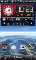 Screenshot of Official Alabama Live Clock
