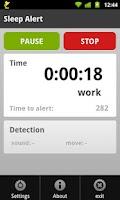 Screenshot of Sleep Alert