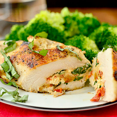 Sun Dried Tomato and Basil Stuffed Chicken Breasts