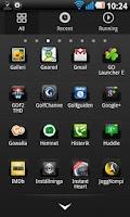 Screenshot of Black chrome Go Launcher theme