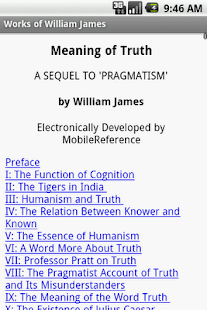 Works of William James - screenshot