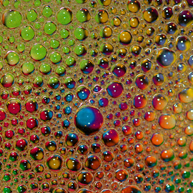 Bubbles by Janet Herman - Abstract Macro ( water, abstract, bubble, reflection, macro, colorful, colors, bubbles )