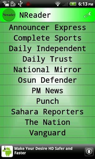 Nigeria News Reader