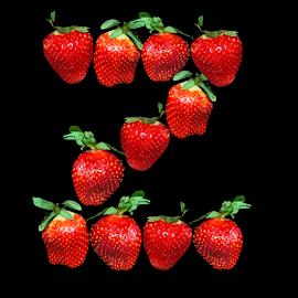 Strawberry Z by Janna Morrison - Typography Single Letters ( strawberry z )