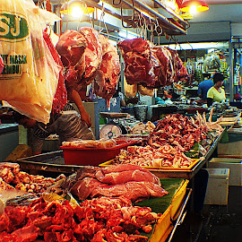 Meat Seller by Nann Photos - City,  Street & Park  Markets & Shops ( street, streets, street photography,  )