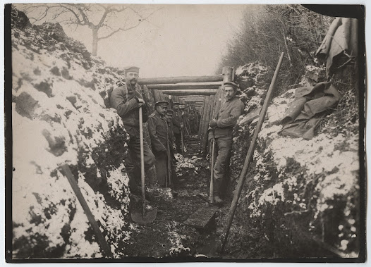 German soldiers in a trench