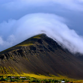 Clouds rolling over  by Tyrell Heaton - Landscapes Mountains & Hills ( clouds, iceland, landscape )