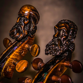 fiddle by Esther Lane - Artistic Objects Musical Instruments ( makers image, string instrument, musical instrument, violin, scroll, hand carved, fiddle,  )