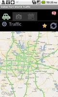 Screenshot of Dallas Fort Worth Traffic