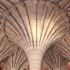 Interior Column in Main Rotunda by Roberta Janik - Buildings & Architecture Public & Historical ( stonework, canada, parliament building of canada, mason work, arches, parliament hill, canadian government parliament building, main rotunda,  )