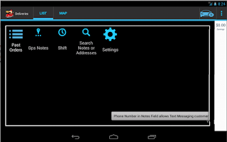 Screenshot of Delivery Droid