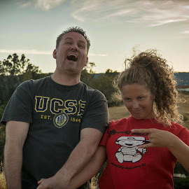 Dad and Daughter Fun by Diane Clontz - Novices Only Portraits & People ( silly, dad, daughter, fun, supermoon )