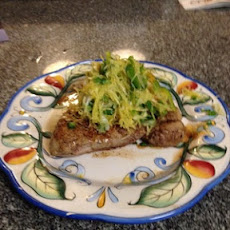 Pan Seared Pork Chop & Spaghetti Squash Slaw: