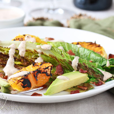 Grilled Romaine and Orange Salad with Creole Buttermilk Dressing