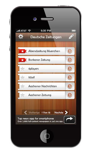 deutsche-zeitungen for android screenshot