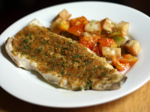 Baked Fish with Savory Bread Crumbs