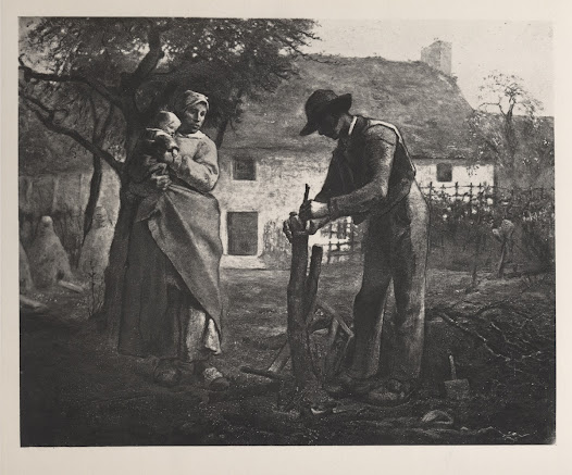 Reproduction of a Jean-François Millet painting in  <i>Art Treasures of America</i>.