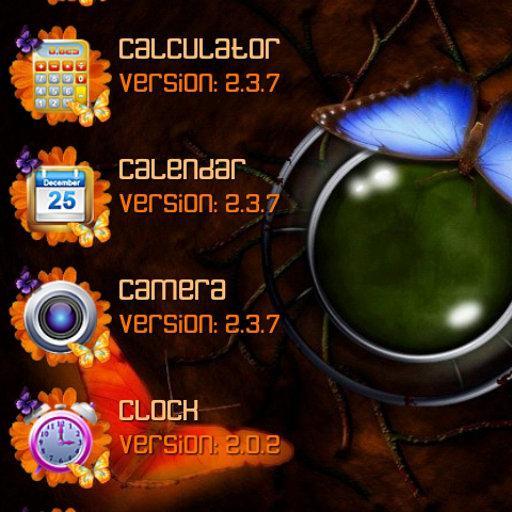 蝴蝶主題為ssLauncher 個人化 App LOGO-APP試玩