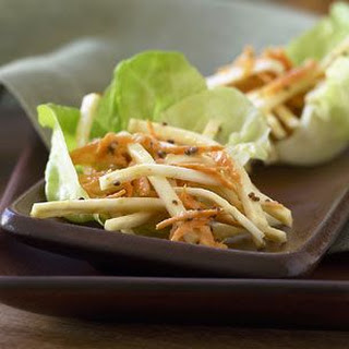 Celery Root and Carrot Salad with Creamy Dressing