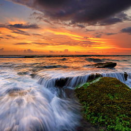Fall and Flow by Gede Suyoga - Landscapes Waterscapes