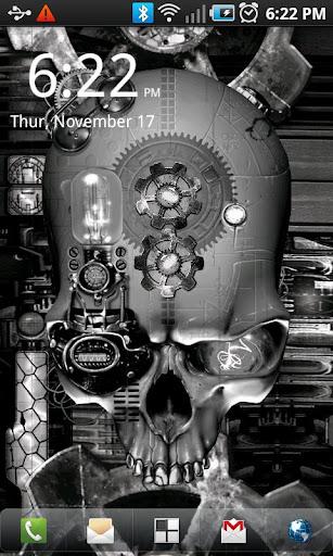 玩個人化App|蒸汽朋克骷髏動態壁紙免費|APP試玩