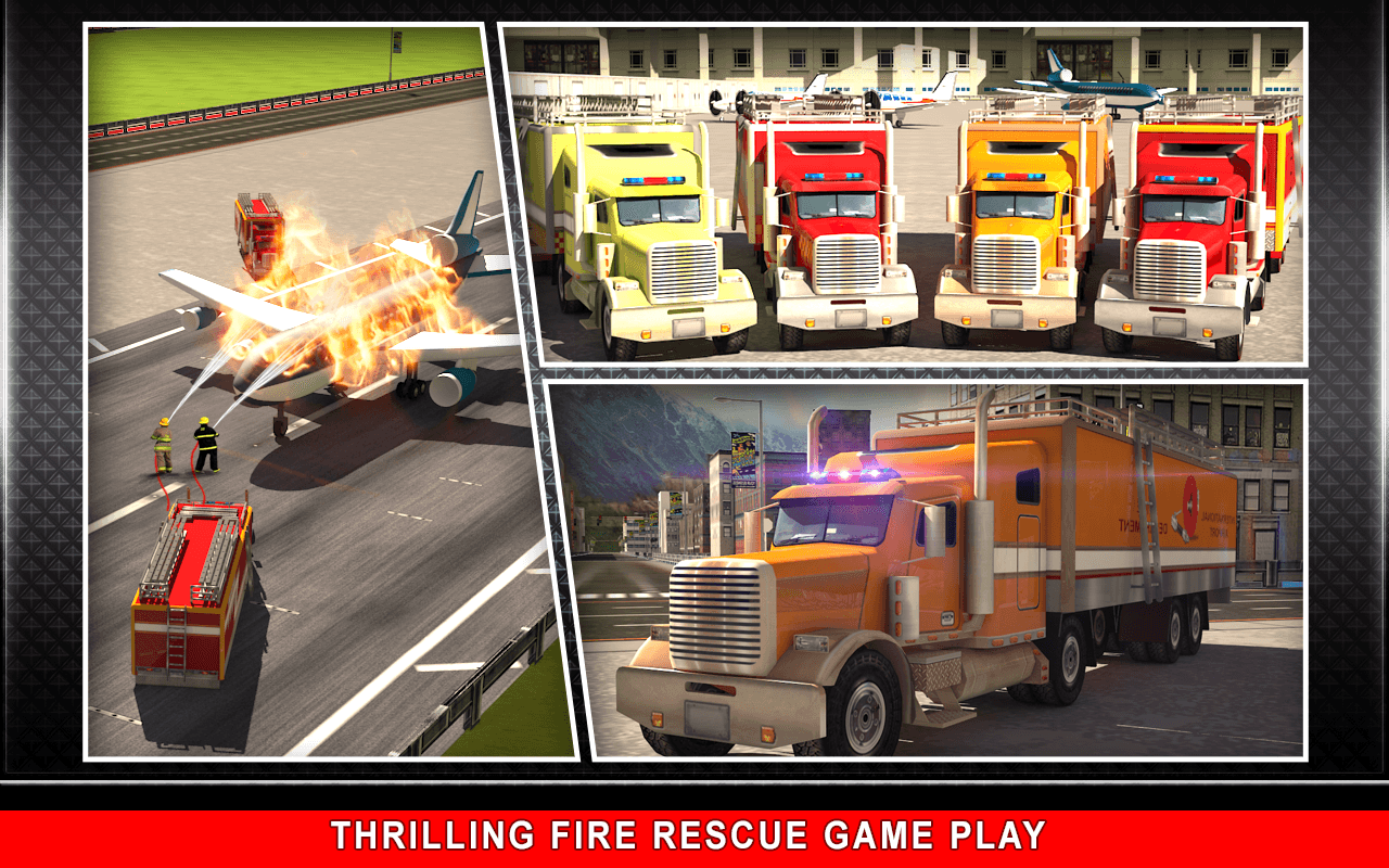 911 Rescue Fire Truck 3D Sim Screenshot 9