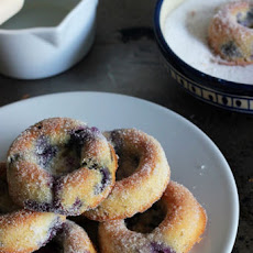 Baked Wholemeal Blueberry Donuts