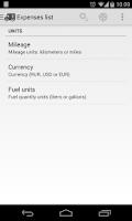 Screenshot of Car Expenses
