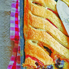 Cherry Custard Jalousie Pie