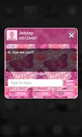 Screenshot of Pink Butterfly Go SMS Theme