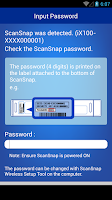 Screenshot of ScanSnap Connect Application.
