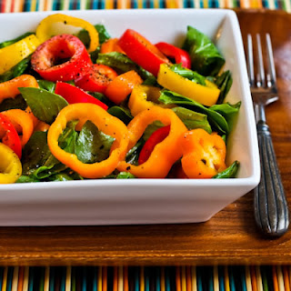 Arugula and Sweet Mini Pepper Salad