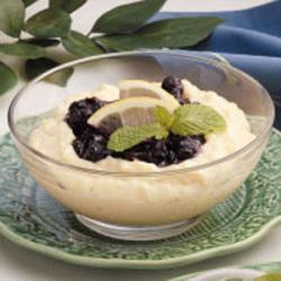 Blueberry Cornmeal Pudding