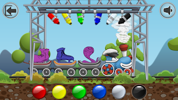 Screenshot of Rainbow Train: teach colors lv
