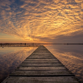 Sunset by Joris Brouwer - Landscapes Sunsets & Sunrises ( water, reflection, sky, colors, sunset, lake )
