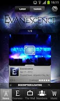 Screenshot of Evanescence: Mobile Backstage
