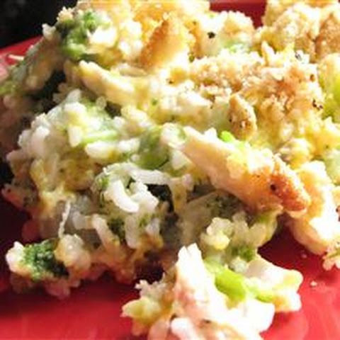 Broccoli, Rice, Cheese, and Chicken Casserole