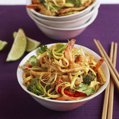 Superhealthy Singapore noodles