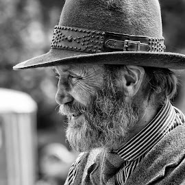 Eli by Dez Green - People Portraits of Men ( eli, cowboy, monochrome, wild west, portrait )