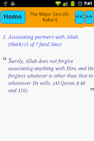 Screenshot of Major Sins In Islam