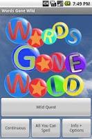 Screenshot of Words Gone Wild